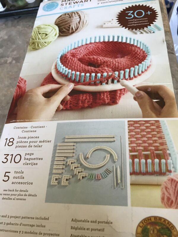 Martha Stewart Crafts Knit and Weave Loom Kit Multiple Configurations