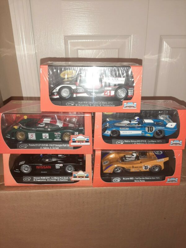 5 new in case slot it  1/32 scale slot cars