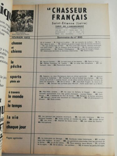 N175 le chasseur français n°900 fév 1972 setter anglais magazine vintage
