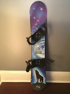 Snowboard 130cm with bindings for kids