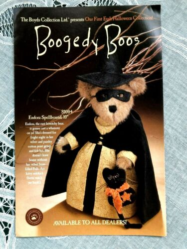 2000? FIRST EVAH HALLOWEEN BOYDS BOOGEDY BOO COLLECTION BROCHURE/BOOKLET
