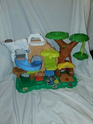 Fisher Price Little People Zoo Jungle Playset Treehouse Swing No Figures Slide