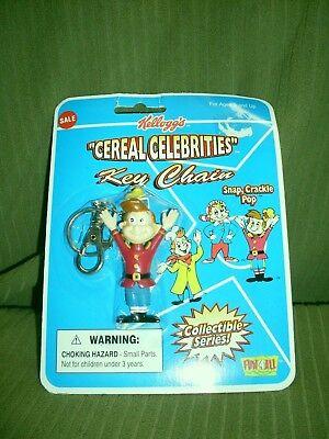 Kellogg's Cereal Celebrities Rice Krispies Pop Key Chain Figure Sealed New