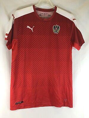 AUSTRIA Puma Home Shirt 2016/17 Soccer Jersey Euro 2016 Mens Medium image