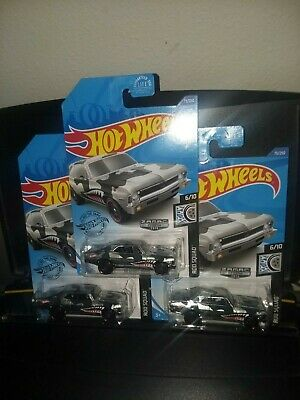 HOT WHEELS 2020 WALMART EXCLUSIVE  ZAMAC #4- '68 CHEVY NOVA LOT OF 3 MINTY!
