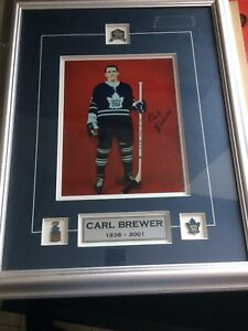 Autographed Carl Brewer TML photo