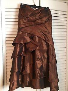 Brown shimmer bridesmaid dress