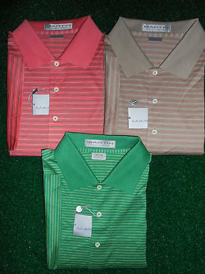 NEW MEN'S MARTIN GOLF CABO STRIPE LISLE S/S POLO SHIRT, PICK A SIZE AND -