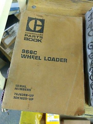 Cat Caterpillar 966c Wheel Loader Parts Book Sn 76j 30k
