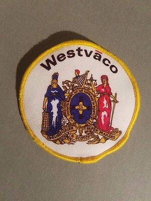 Westvaco Paper Company Coat Of Arm Patch Mead Mwv Westrock  B