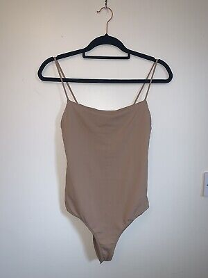 ZARA Beige Bodysuit Size Medium