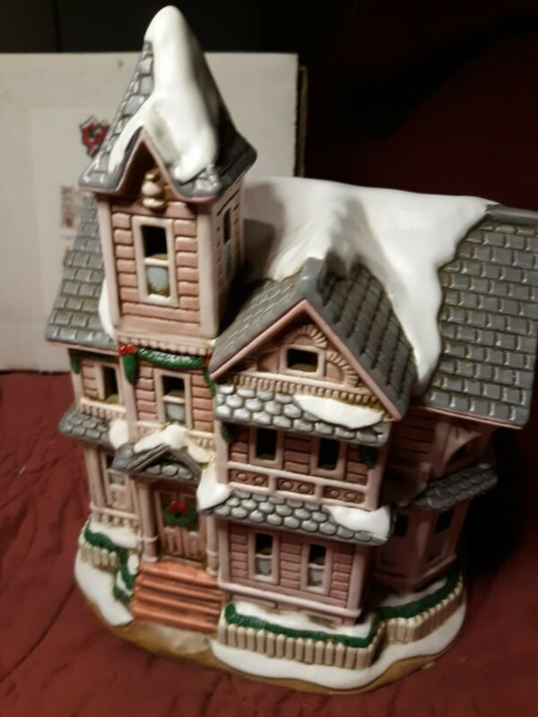 SIGNED Lefton Colonial Christmas Village 00716 THE KIRBY HOUSE 1992 Very Rare!
