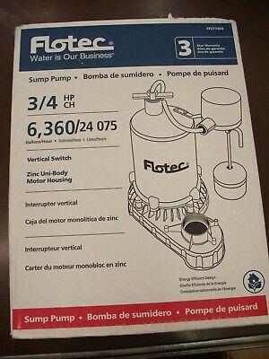 Flotec Fpzt7450 - 34 Hp Zinc Submersible Sump Pump W Vertical Float Switch