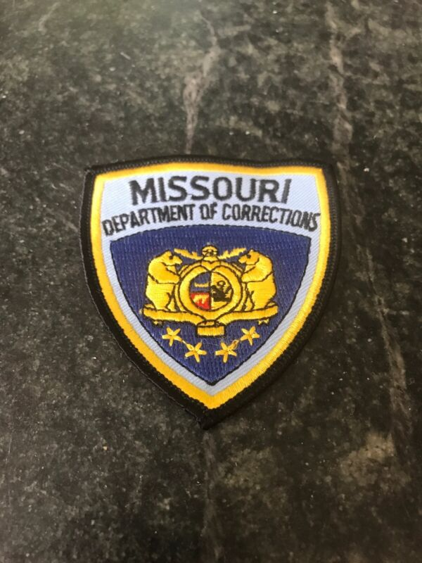 Rare Vtg MISSOURI DEPARTMENT OF CORRECTIONS PATCH SMALL Logo 80s Hat Shoulder