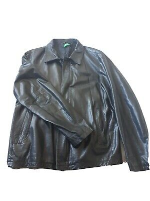 Vintage United colours of benetton Leather Jacket Mens