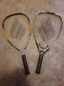 Racquets for racquet ball (set of 2)