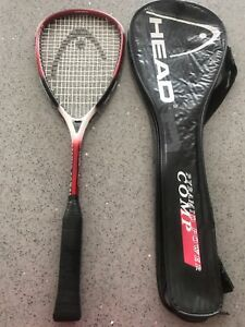 Head Pyramid Power squash racquet & bag - excellent condition.