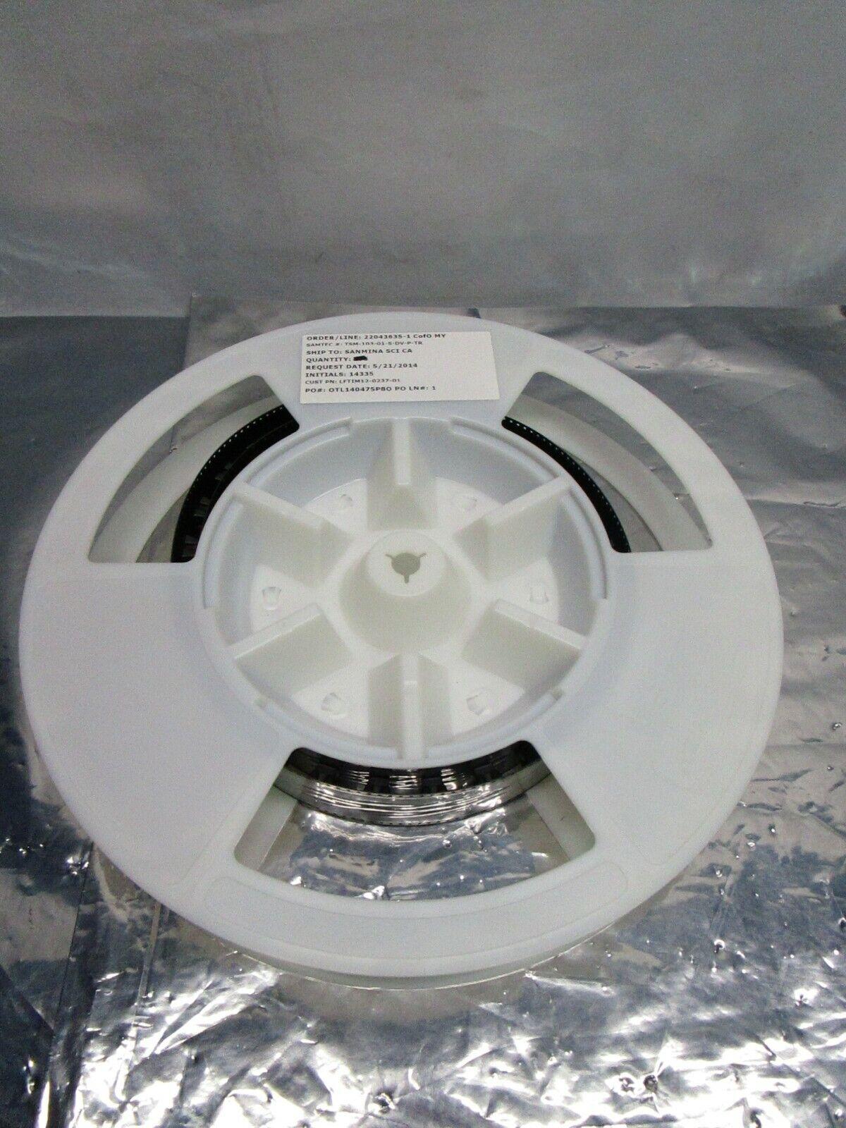 1 Lot of 50 Samtec TSM-103-01-S-DV-P-TR CONN HEADER SMD 6POS 2.54MM, 102713