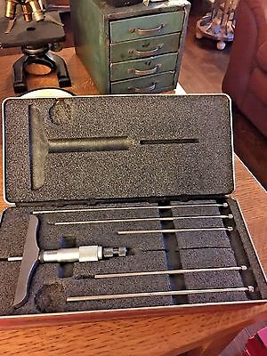 Starrett Depth Gauge Micrometer 4 Base Case 445bz-6rl