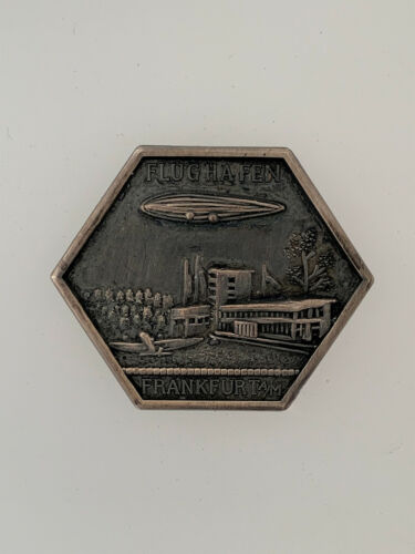 Imperial German WWI Airship Zeppelin commemorative badge for Flughafen Frankfurt