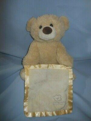 Gund Peek a Boo Bear Animated Talking with Blanket Baby Plush Works!