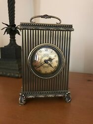 Antique Brass Table/Mantel Clock By The Bombay Company