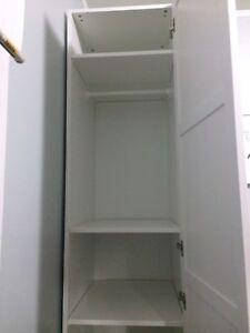 White wardrobes / closets / shelving units for sale