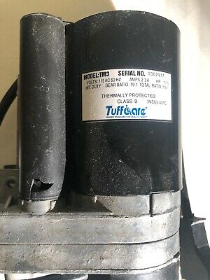 Tuffcare Electric Gear Motor Tm3 115ac 2.3a Hp110 Used