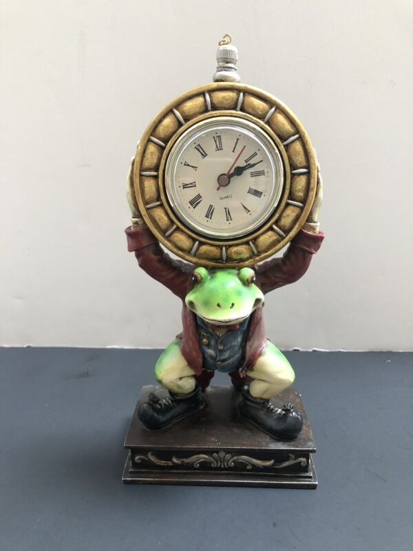 Whimsical Frog Battery Operated Desk Clock