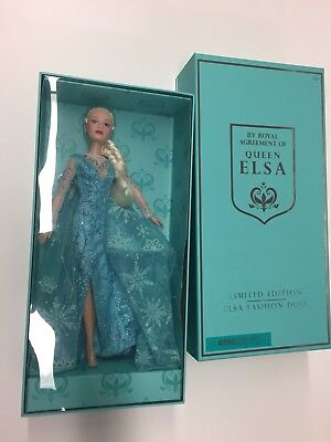Disney Broadway Musical Play Frozen Elsa Fashion Doll Blue Ice Dress Toy Figure
