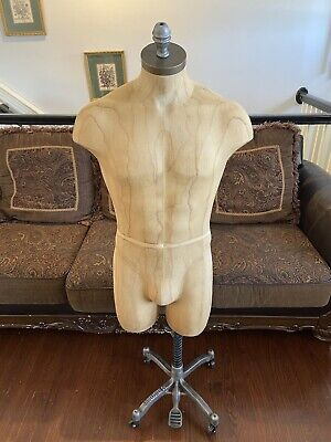 High Quality Male Mens Mannequins Torso W Adjustable Stand