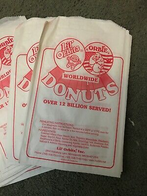 2000 Lil Orbits White Paper Bags Donut Food Grocery Retail Case Commercial