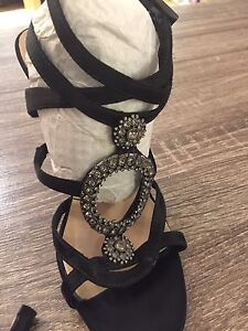 Black Marciano Strappy Heels - Size 7 (worn once)