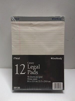 Mead 50 Sheets 8 12 X 11 34 Legal Pad Pack Of 12 59130 Paper