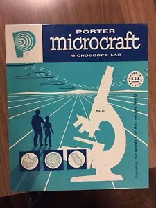 1960s Porter Microcraft Microscope Lab