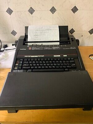 Vintage Brother Model Ax-24 Electronic Typewriter Cover Word-spell Dictionary