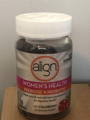 Align Women's Health Prebiotic + Probiotic 50 Gummies Cranbe