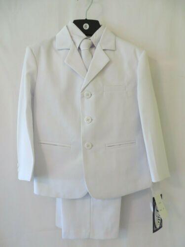 Lito Toddler 3 Button Suit Jacket Vest Shirt Tie Pants White XL 24 Mos #U9396