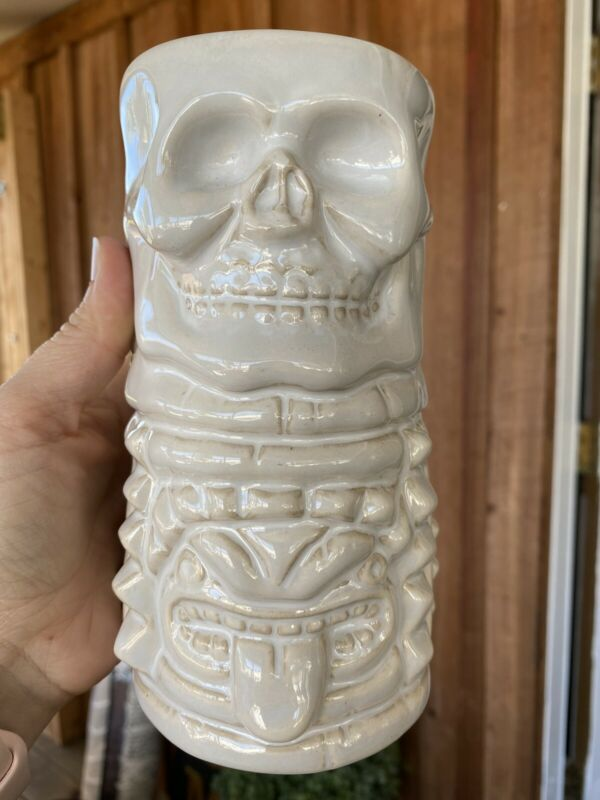 Pottery Barn Ceramic Tiki Mug