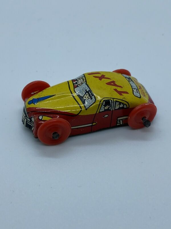 1950's Cracker Jack Prize Yellow Taxi