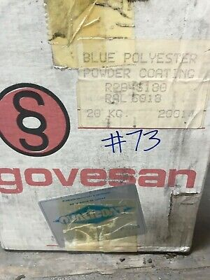 73 Teal Blue Polyester Powder Coating Paint - New 1lb