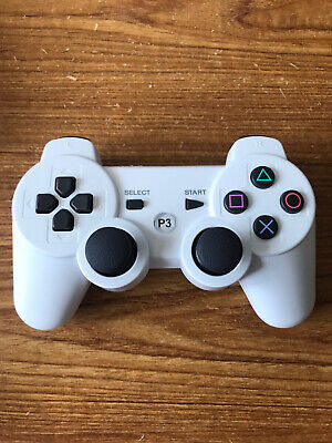 Bluetooth PS3 Replacement Controller White Wireless Dualshock 3 UK STOCK