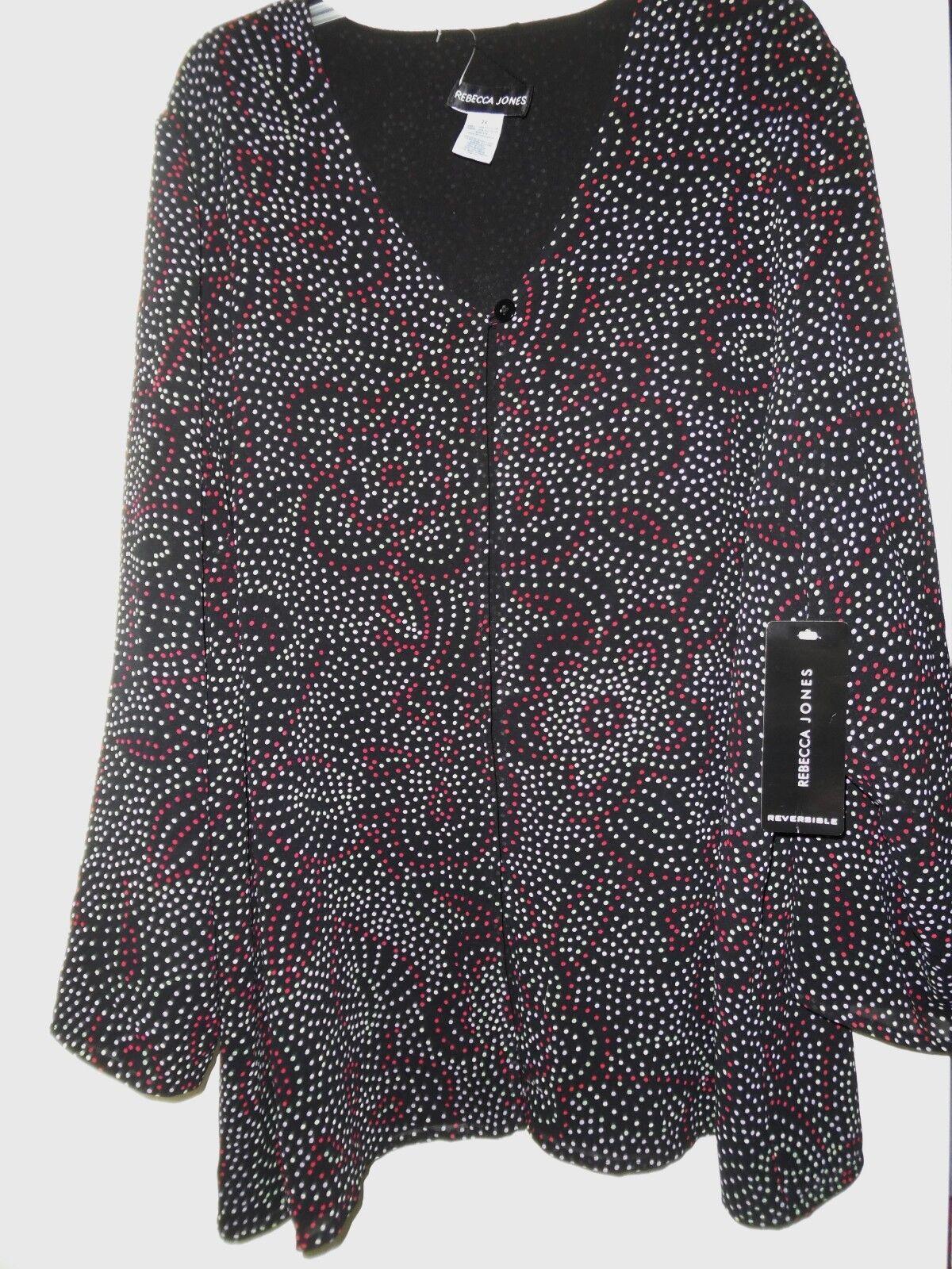 plus sz 24w coverlet jacket reversible mosaic
