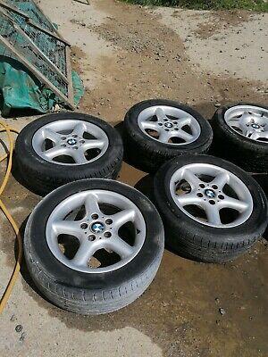 """Bmw E36 318ti Sport 16"""" Alloy Wheels X 4 Z3 Etc FREE POSTAGE 225/50r16"""