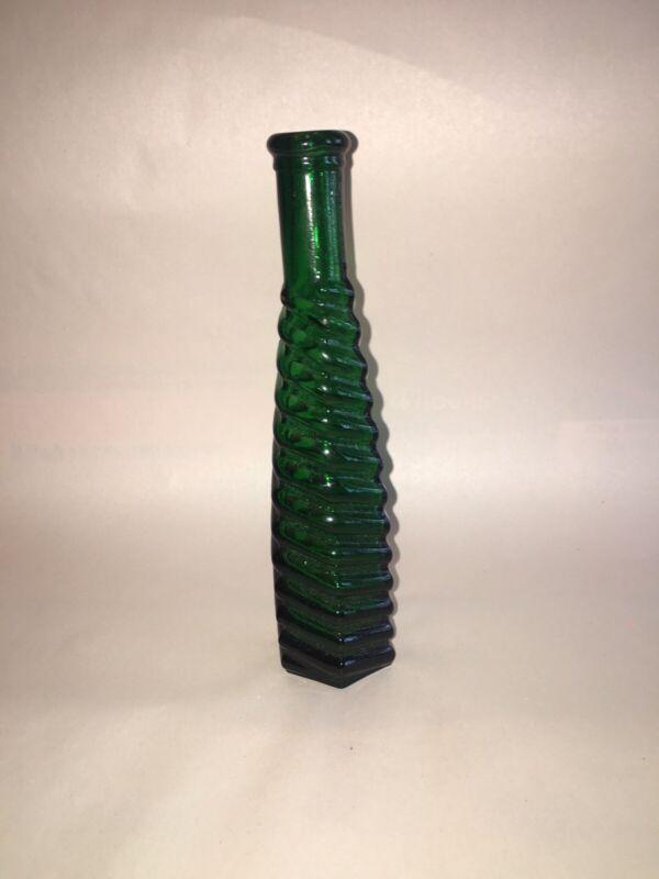 Dark Green S&P(STICKNEY & POOR) ROUND SPIRAL RING PEPPERSAUCE BOTTLE 1880