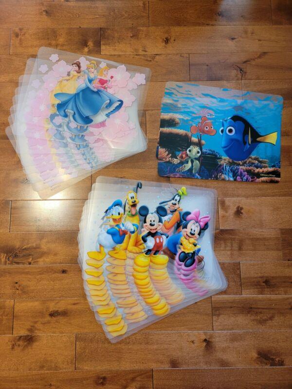 Disney Placemats 8x Disney Princesses,  13x Mickey & Friends, 2x Finding Nemo