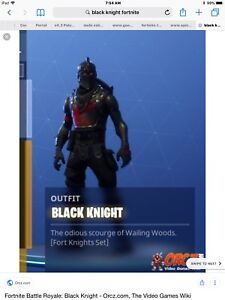Looking To Buy A Fortnite Account With Black Knight. (Xbox)