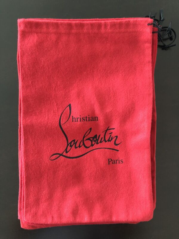 """Authentic Christian Louboutin Red Dust Bag for Shoes 14"""" x 9"""""""