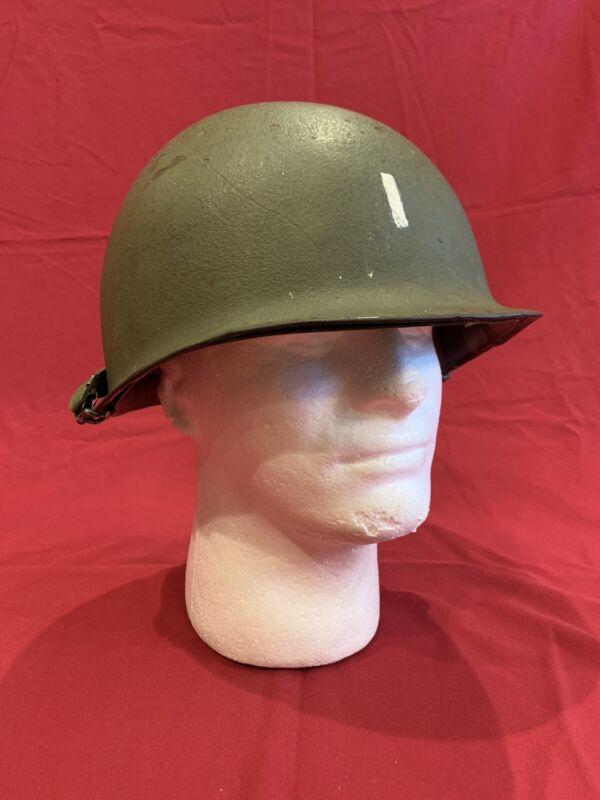 "ORIGINAL WWII Named ""John J. Gilmore"" 1st Lieutenant Rear Seam M1 Helmet"