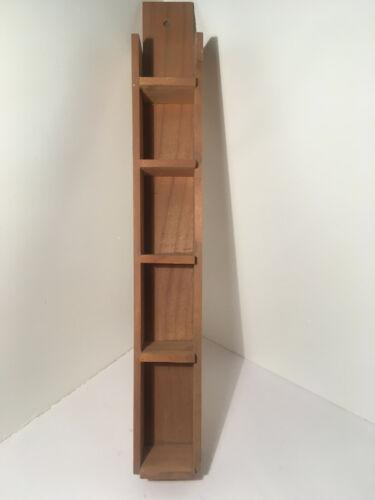Vintage 5 Holes Hanging Wood Thimble Shelf #11